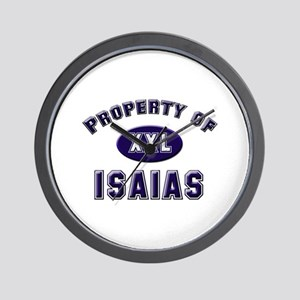 Property of isaias Wall Clock