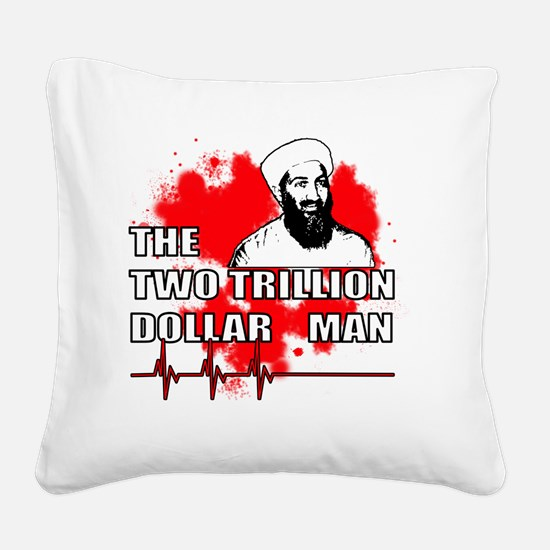 2_TRILL_MAN_whiteT Square Canvas Pillow