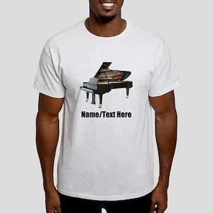 Piano Music Personalized Light T-Shirt