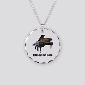 Piano Music Personalized Necklace Circle Charm
