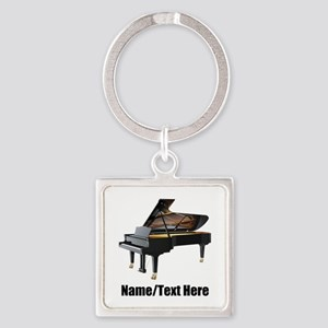Piano Music Personalized Square Keychain