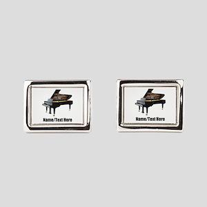 Piano Music Personalized Rectangular Cufflinks