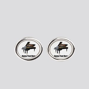 Piano Music Personalized Oval Cufflinks