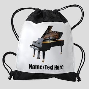 Piano Music Personalized Drawstring Bag