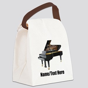 Piano Music Personalized Canvas Lunch Bag