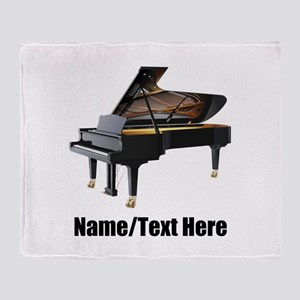 Piano Music Personalized Throw Blanket