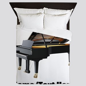 Piano Music Personalized Queen Duvet