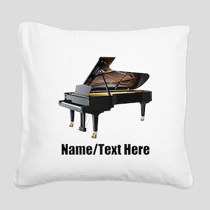 Piano Music Personalized Square Canvas Pillow