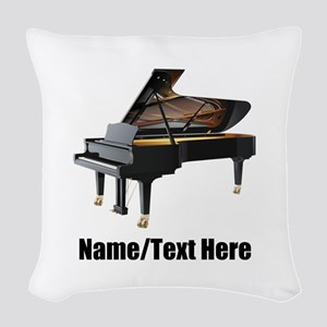 Piano Music Personalized Woven Throw Pillow