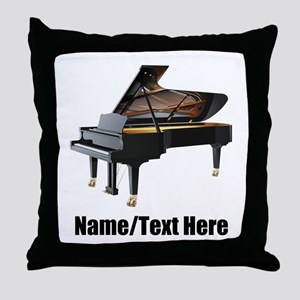 Piano Music Personalized Throw Pillow