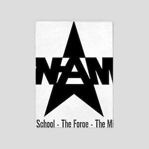 nam sfm black 5'x7'Area Rug