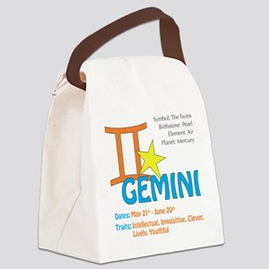geminnisquare Canvas Lunch Bag