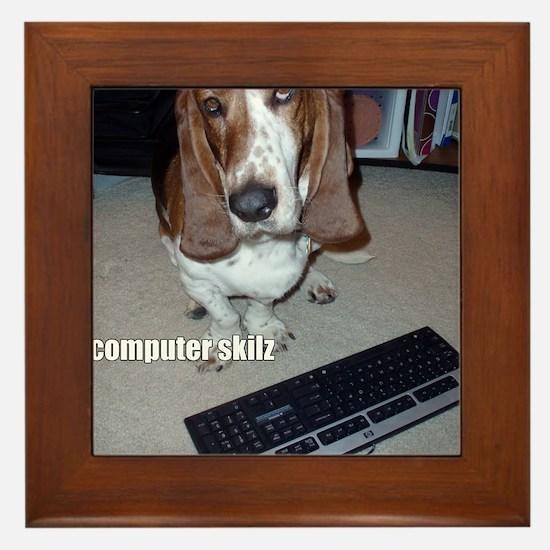 computer_skillz Framed Tile