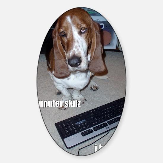 computer_skillz Sticker (Oval)