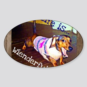 Dashing Doxie Sticker (Oval)