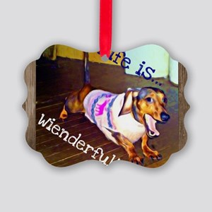 Dashing Doxie Picture Ornament