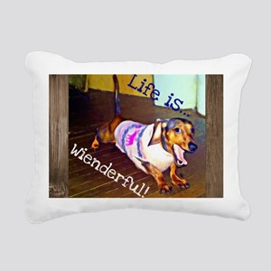 Dashing Doxie Rectangular Canvas Pillow