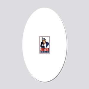 Obama Justice has been done  20x12 Oval Wall Decal