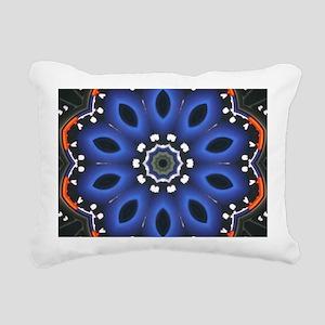 Blue_Kaleidescope_by_tia Rectangular Canvas Pillow