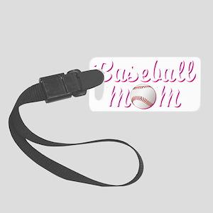 baseball_mom_trans Small Luggage Tag