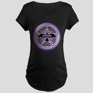 Purple Crow Pentacle Maternity Dark T-Shirt