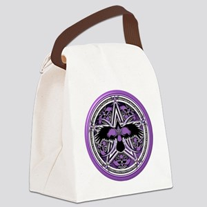 Purple Crow Pentacle Canvas Lunch Bag