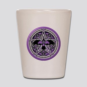 Purple Crow Pentacle Shot Glass