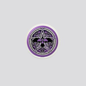 Purple Crow Pentacle Mini Button