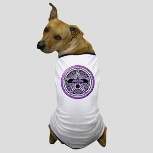 Purple Crow Pentacle Dog T-Shirt