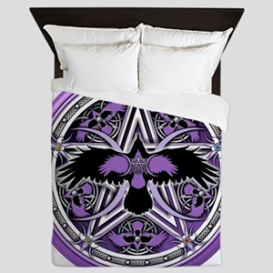Purple Crow Pentacle Queen Duvet