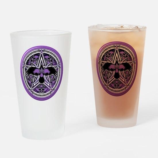 Purple Crow Pentacle Drinking Glass