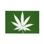 Cannabis Rectangle Magnet (100 pack)