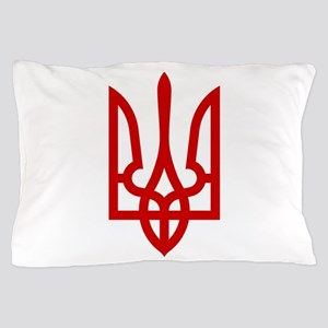 Tryzub (Red) Pillow Case