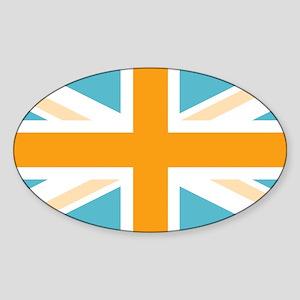 unionjack7 Sticker (Oval)
