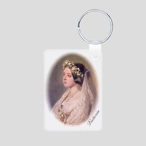Queen Victoria Aluminum Photo Keychain