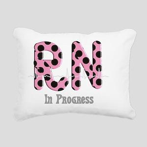 RN In Progress pink Rectangular Canvas Pillow