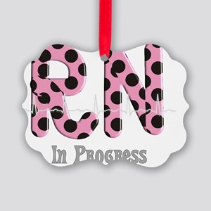 RN In Progress pink Picture Ornament