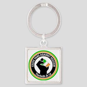 Celtic Fans Against fascism Square Keychain