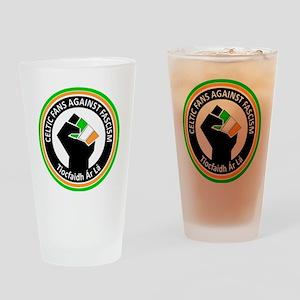 Celtic Fans Against fascism Drinking Glass