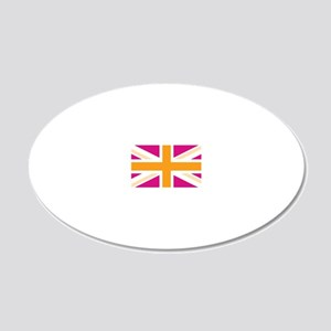 unionjack4 20x12 Oval Wall Decal