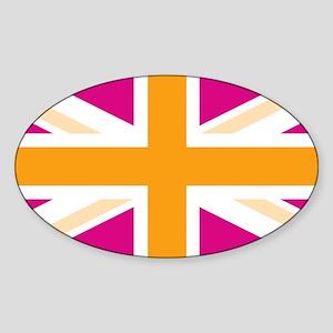 unionjack4 Sticker (Oval)