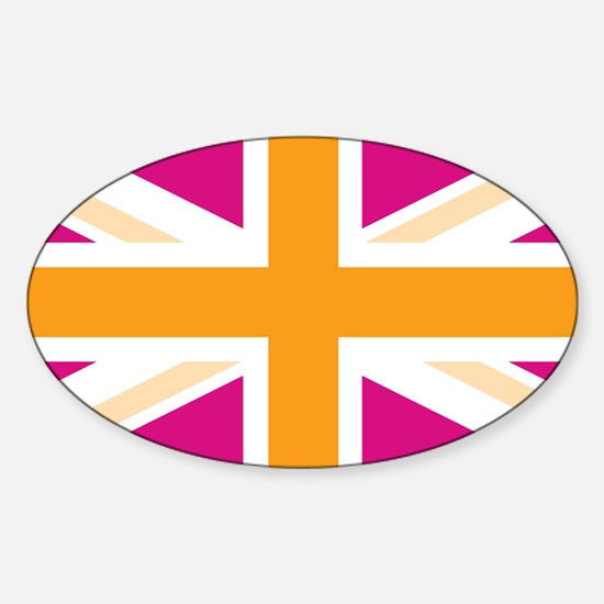 unionjack4 Sticker (Oval)
