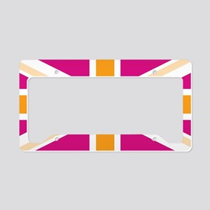 unionjack4 License Plate Holder