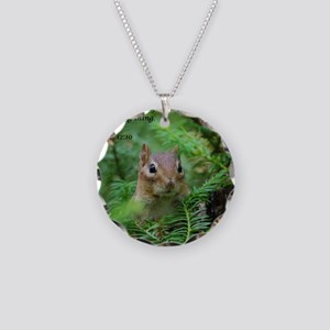 Chipmunk With Verse Necklace Circle Charm