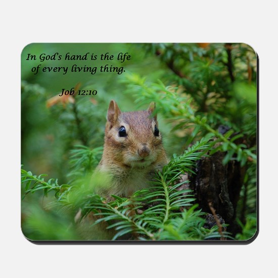 Chipmunk With Verse Mousepad