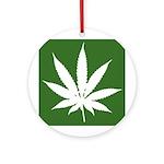 Cannabis Ornament (Round)