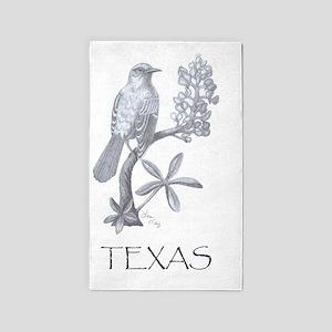 texas mockingbird 001 3'x5' Area Rug