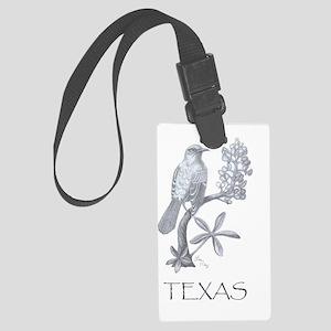 texas mockingbird 001 Large Luggage Tag