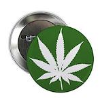 """Cannabis 2.25"""" Button (100 pack)"""