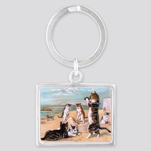 sand cats Landscape Keychain